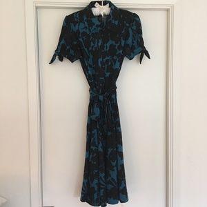 INC - Fit & Flare Button-Down Floral Dress